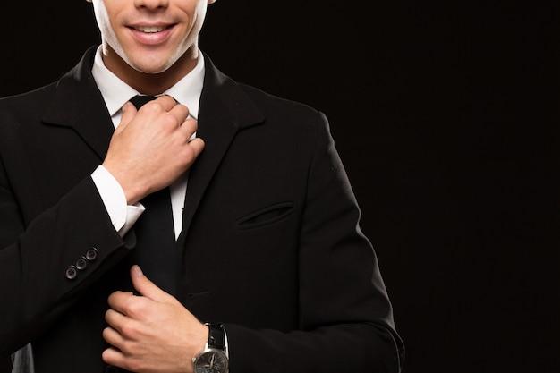 Handsome businessman in a classy suit Premium Photo