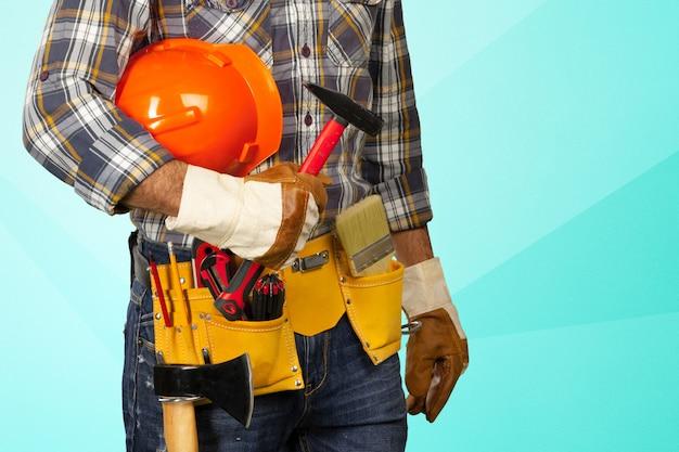Handsome happy workman Premium Photo