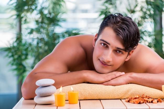 Handsome man during spa session Premium Photo
