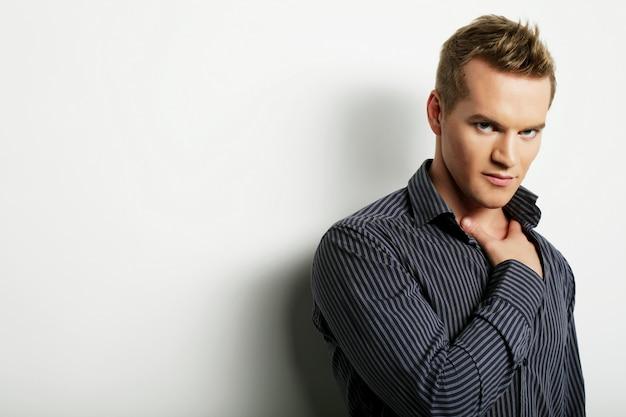 Handsome man, fashion model Premium Photo