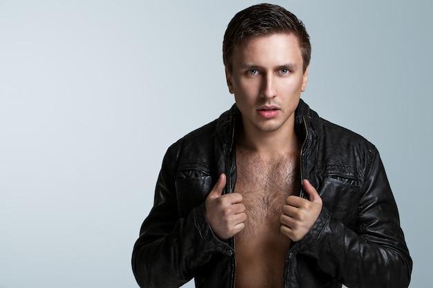 Handsome man in jacket Free Photo