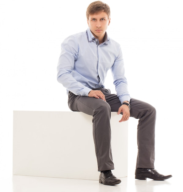 Handsome man in a shirt Free Photo