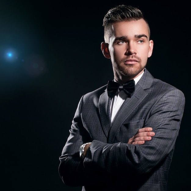 Handsome man in a suit Free Photo