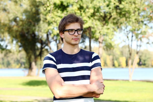 Handsome man with glasses Free Photo