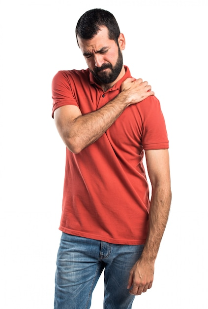 Handsome man with shoulder pain Free Photo