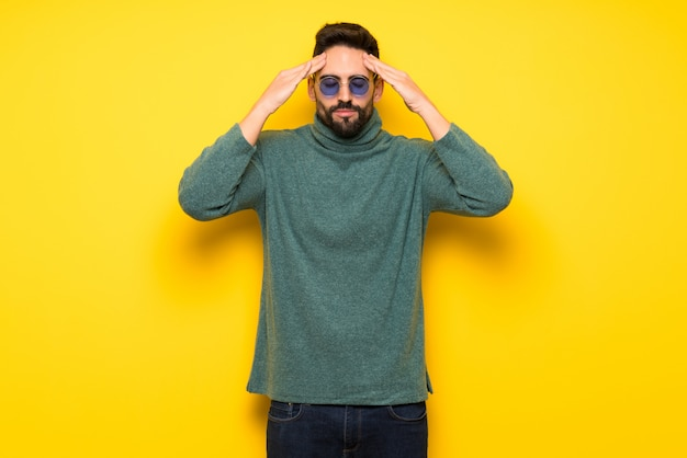 Handsome man with sunglasses unhappy and frustrated with something Premium Photo