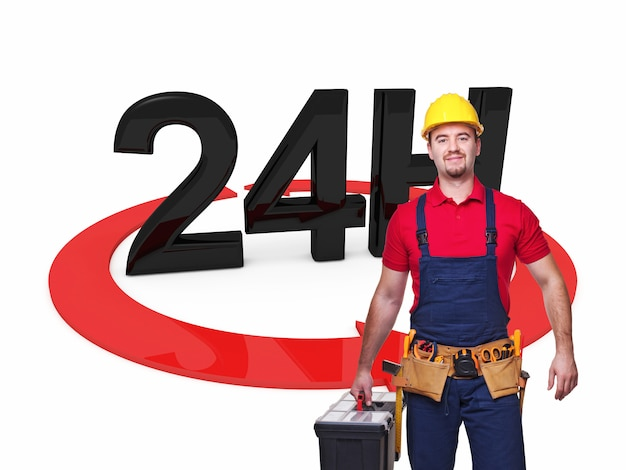 Handyman 24 service Premium Photo