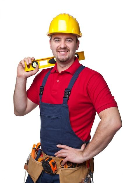 Handyman portrair Premium Photo