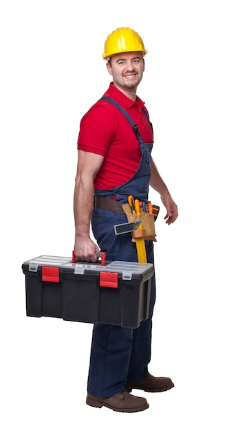 Handyman portrair Premium Photo