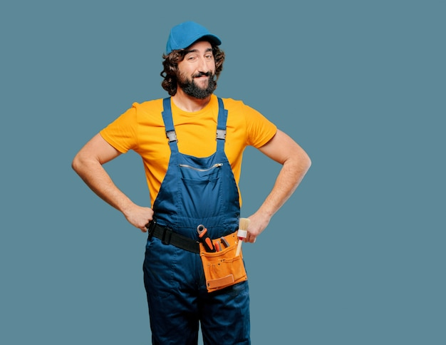 Handyman worker satisfied and proud Premium Photo