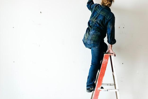 Handyman working renovating build tools Photo | Free Download
