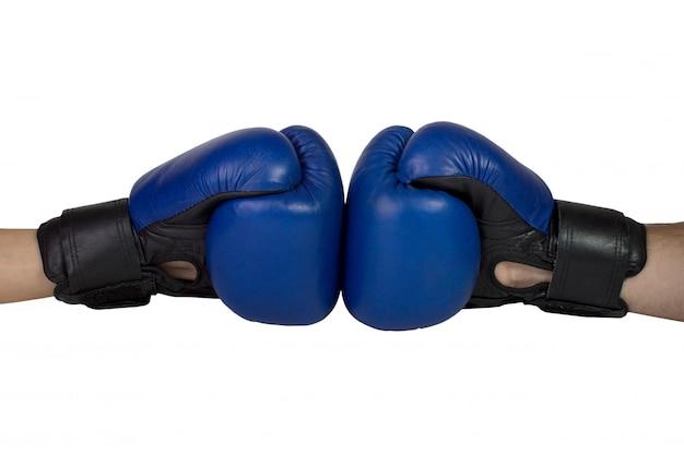 Hanging boxing gloves Premium Photo
