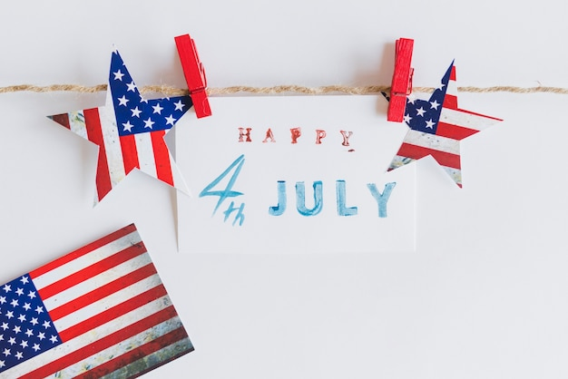 Buon 4 luglio segno tra le stelle Foto Gratuite