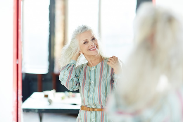 Happy aged woman Premium Photo