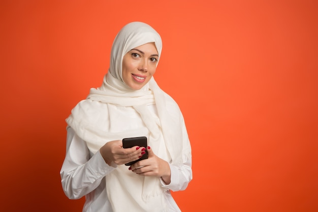 Happy arab woman in hijab Free Photo