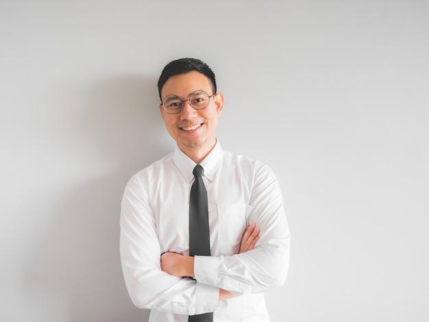 Premium Photo | Happy asian employee businessman in office uniform.