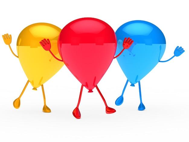 Dancing happy birthday balloons ideal
