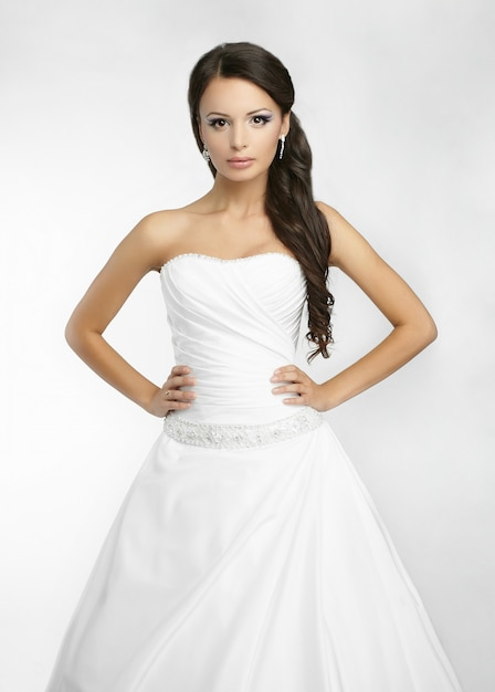 Happy beautiful bride Free Photo