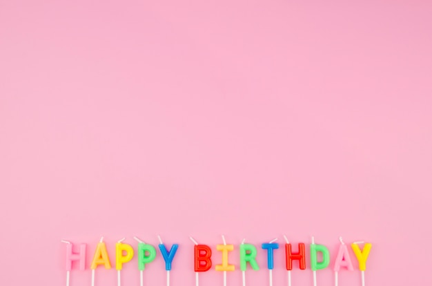 Happy birthday message with copy space Free Photo