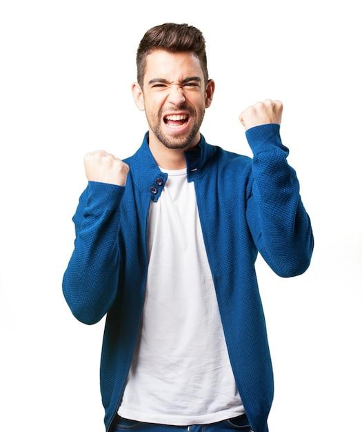 Happy boy in a blue jacket Photo | Free Download