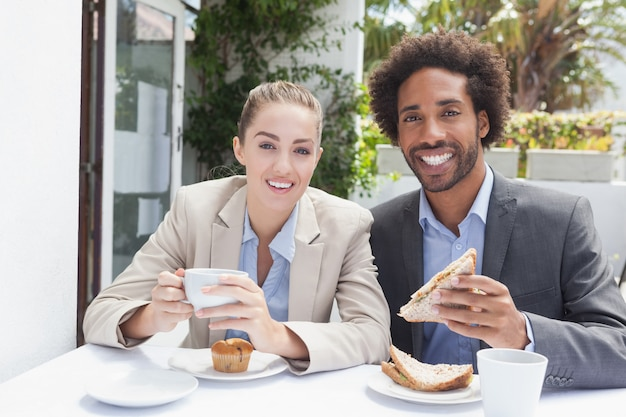 Happy business people on their lunch Premium Photo