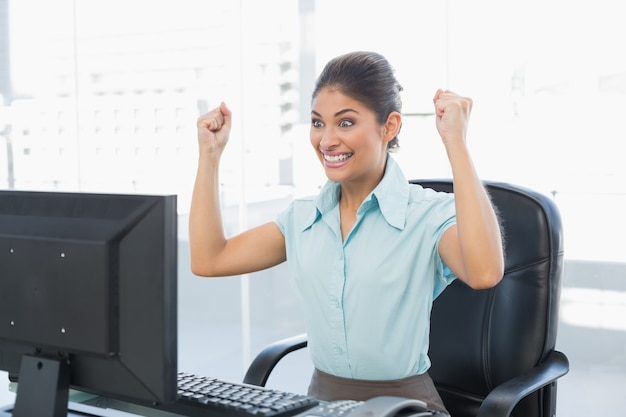 Image result for looking happy on the computer