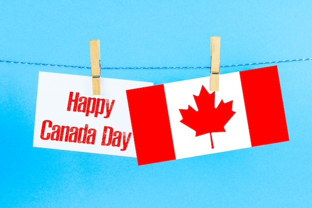 Happy canada day greeting card or background. Premium Photo