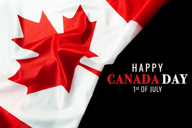 Happy canada day with canada flag background Premium Photo