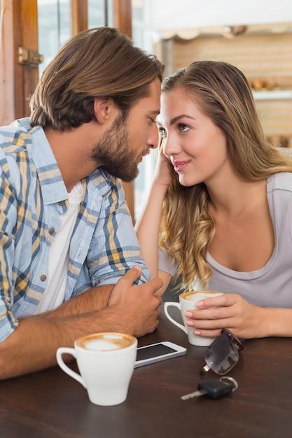 Happy couple on a date Premium Photo