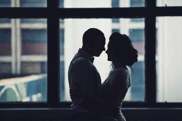 Happy couple hugging Premium Photo