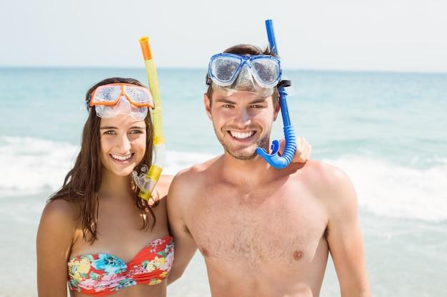 Happy couple smiling Premium Photo