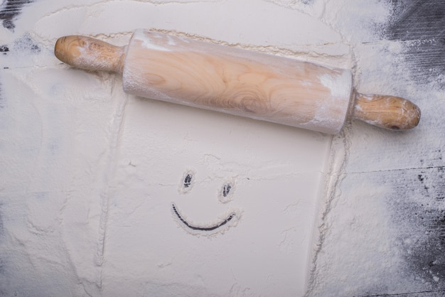 Happy face in the dough Free Photo