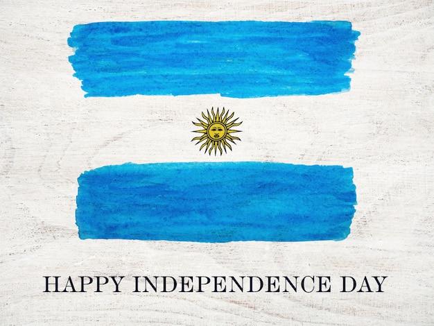 Счастливого дня независимости. красивая открытка. крупный план Premium Фотографии