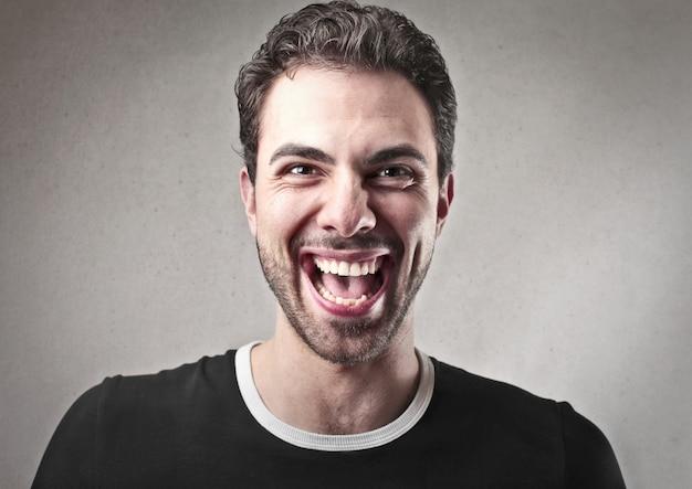 Happy laughing man Premium Photo