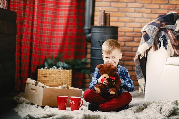 happy little boy playing Free Photo