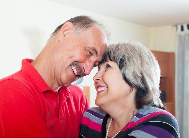 Happy loving senior couple Free Photo