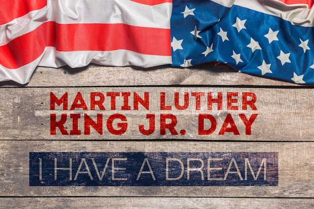 Happy martin luther king day background Premium Photo
