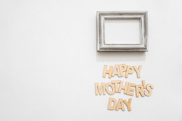 Happy mother\'s day lettering and frame Photo | Free Download