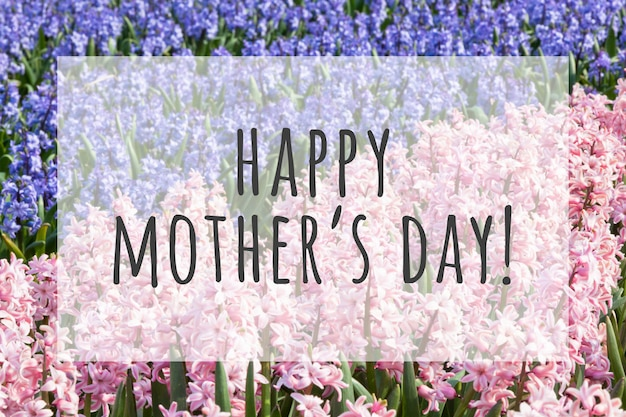 Happy mother's day with flowers Premium Photo