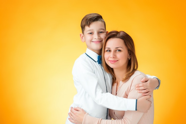 Happy mother and son Free Photo