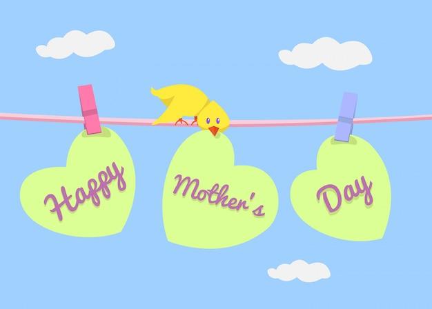 Happy mothers day vector Premium Photo