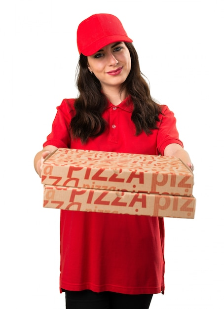 Pizza delivery girls in cars — photo 15