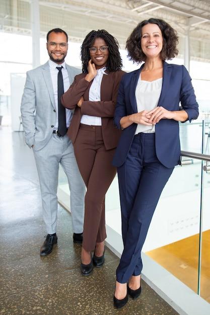 Happy professional multiethnic business team Free Photo