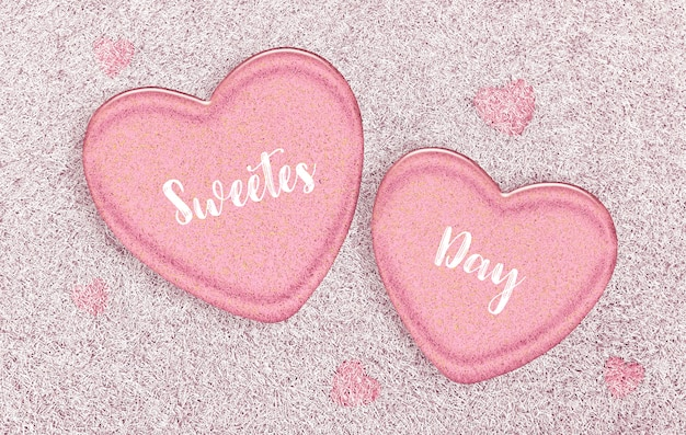 Premium Photo Happy Sweetest Day And Valentine S Day Concept Pink Jelly Hearts
