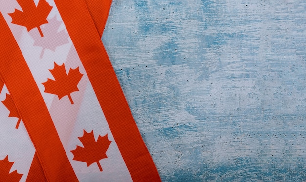 Happy victoria day canadian flags rustic background Premium Photo