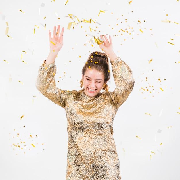 Happy woman having fun at party Free Photo