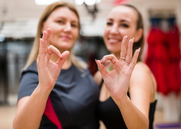 Happy women together at the gym Free Photo