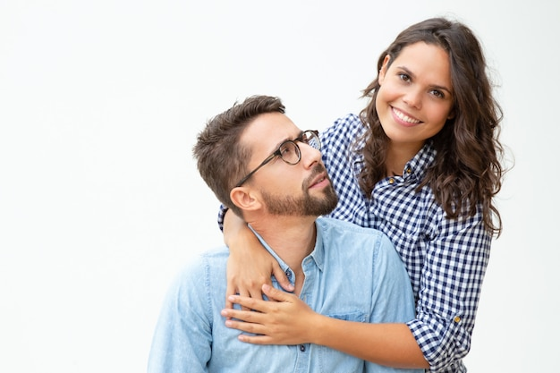 Happy young couple hugging Free Photo