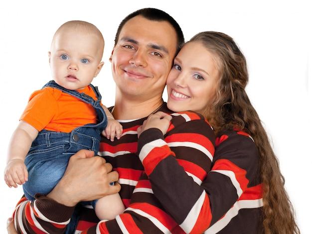 Happy young family Premium Photo