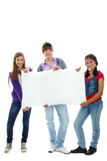 happy-young-people-holding-a-blank-sign_